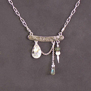 SOLD Sterling silver, pearl, and labradorite necklace