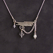 Sterling silver, crystal, and pearl necklace