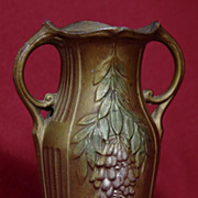 Small French Bronze Vase - Wisteria - 4 1/2""