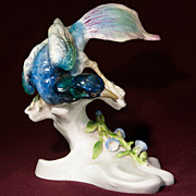Crown Staffordshire Bird Figurine - Designed and Modelled by J T Jones