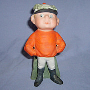 SALE Schafer & Vater Jockey Boy google-eyed match holder vase toothpick cache pot