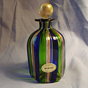 SALE Murano Glass Perfume Bottle Campanella L  Italy Stripe