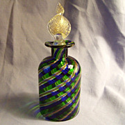 SALE Murano Glass Perfume Bottle Campanella L  Italy swirl