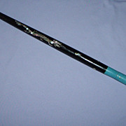 SALE Swagger Stick Dragon Mother of Pearl Abalone Inlay shell tip Asian