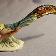 Cacciapuoti Italian Pottery Pheasant Miniature Italy Figurine