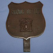 SALE Bronze Plaque State of New York EXCELSIOR