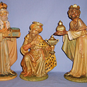 SALE Vintage 1960�s Fontanini 12� Scale  Kings Wise Men  Nativity Set Polymer Large