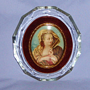 SALE Cameo Creations �Woman with a Fan� portrait print Boucher crystal frame