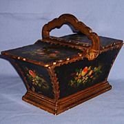 SALE Charming Old Italian Florentine Basket Gilt Wood Tole Double Lidded Early 1900�s