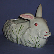 SALE Antonio Zen Nove Bunny Rabbit Italian Pottery Basket Bowl Planter