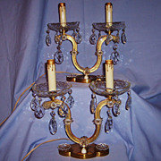 Vintage Pair Murano Glass Lamps Girandole Early to Mid-20th Century