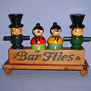Bar Flies Vintage Barware Set Cork Screw Bottle Opener Stoppers & Caddy