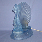 Walther & Sohne Lamp Arabella Vintage Art Deco Glass  Embossed Frosted