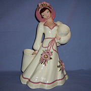 Hedi Schoop Girl Lady Figurine Vintage California Pottery Vase