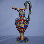 Rubboli Lustre Ewer Societa Ceramica Umbria Italian SCU