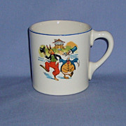 Uncle Wiggily Childrens Ovaltine Mug Sebring Pottery Co.