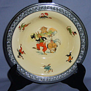 Uncle Wiggily Childrens  Bowl Sebring Pottery Co. Farberware