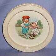 Buffalo Pottery Child's Feeding Dish Drayton Campbell Soup Dolly Dimple