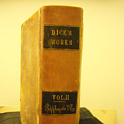 Dick's Works Vol 2 full Leather binding astronomy science
