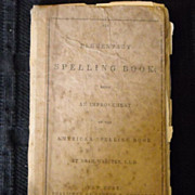 Noah Webster 1829 Elementary Spelling Book original binding