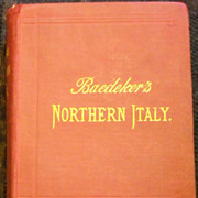 Maps Italy 1895 Karl Baedeker atlas steam age Handbook for Travelers Guide