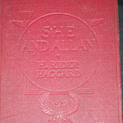 She and Allan, H. Rider Haggard, Allan Quatermain, Longmans, Green and Company 1921