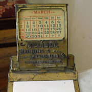 brass advertising desk calender New England Printing