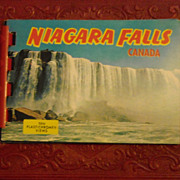Niagara Falls miniature color photo card book c.1965 retro travel tourist