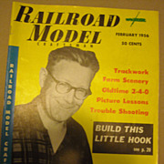 Railroad Model Craftsman train magazine 1956 February