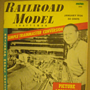 Railroad Model Craftsman train magazine 1956 January