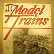 Model Trains railroad magazine 1961 October HO