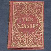 miniature gift book The Seasons poetry 1853 Lowell Hemans et al.