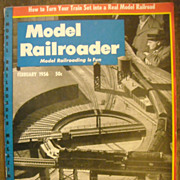 Model Railroader train magazine 1956 February