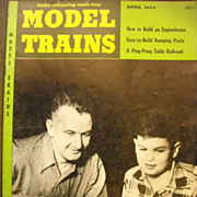 Model Trains railroad magazine 1954 April
