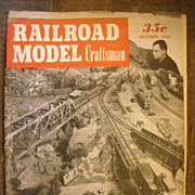 Railroad Model Craftsman train magazine 1952 October