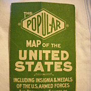 Map United States1945 WWII military insignia