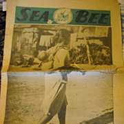 Sea Bee Newspaper WWII Navy combat engineers 1945