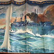 WWII , World War Two, Philadelphia art print newspaper Inquirer