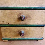 19th Century 2 drawer Wall Box in Original Paint