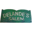 Early 20th C. Primitive Trade Sign Delande's Salem, Mass Original Paint