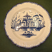 Staffordshire Shell Edge Pearlware Plate ~ ca. 1785