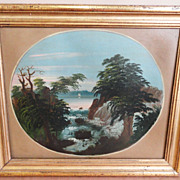 Signed William Matthew Prior Landscape Oil on Board 1851