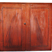 19th C. Hanging Cupboard in Original Paint Decoration