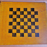 Late 19th C. Two- Sided Gameboard in Original Paint