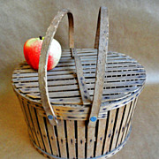 Scarce Early 1900's Midwestern Pie Basket