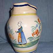 Quimper pitcher