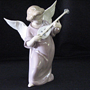 REDUCED Attention collectors: Retired lladro figure, Angel with Mandolin