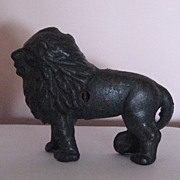 A. C. Williams Cast Iron Still Coin Bank:  Lion