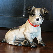 Hubley Cast Iron Still Bank:  Boston Terrier