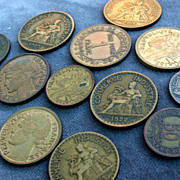 SALE French old coins vintage coins 1922s to 1940s collectible art deco period coins vintage .